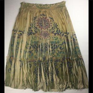 Lane Bryant Full Length Skirt Elastic Waist Floral